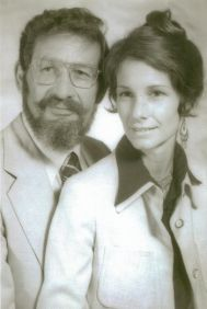 black and white image of a couple