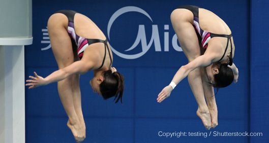Image of synchronized divers