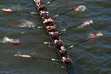 men on a rowing team